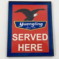 Yuengling Served Here Sign in Clean Plastic Frame Man Cave Decoration Preowned