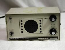 Vintage Ramko Research Mas-12/1 Monitor Amp & Speaker with 12 Balanced Inputs