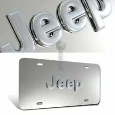 AUTHENTIC For JEEP 3D Logo Front License Plate Frame Stainless Steel Metal