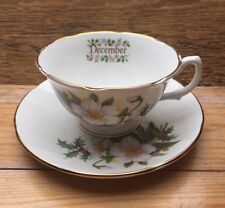 Royal Grafton Cup & Saucer/December/Flower Of Month/Bone China/Vintage Style