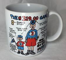 Russ Berrie & Co Coffee Mug Cup The $319.00 Game for Fathers Brothers Day