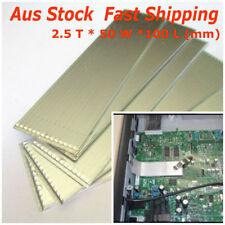 2pc Large Flat Heat Pipe Plate 2.5*50*100 Slim Aluminum Thermal Cooling CPU IC