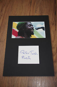 PETER TOSH signed 8x12 matted InPerson 1979 in Berlin BOB MARLEY  SCARCE !!