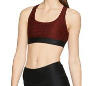 Under Armour Women's Sport Bra Red Size Medium M Cross Back Jacquard $40 #565