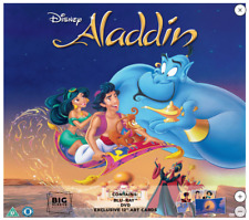 Aladdin Big Sleeve Edition Blu ray DVD and Art Cards RARE Disney Gift Idea - NEW