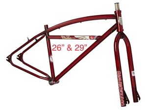 """2020 S&M Cruiser 29"""" Or  26 Frame And Forks TRANS  RED"""