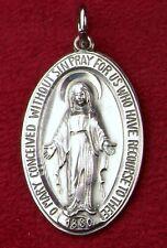 Carmelite Nuns Lourdes Pilgrimage Sterling Silver Catholic Miraculous Medal 12GR