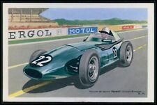Vanwall UK Automobile motor racing car race original old 1950s Tobler postcard