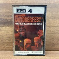 Oktoberfest Will Glahe And His Orchestra Cassette Tape DECCA PHASE 4 STEREO