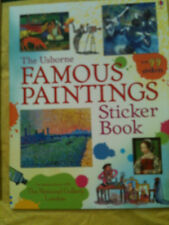 Famous paintings sticker book Usborne NATIONAL GALLERY fun activity educational