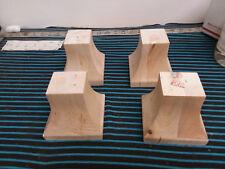 Unfinished Oak Wood Square Tapered Hardwood Sofa Leg 4 Pack Legs Feet DIY