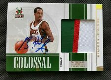 BRANDON JENNINGS 2009-10 NATIONAL TREASURES ROOKIE AUTO RC JERSEY PATCH #14/25!