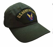US Army Air Corps Hat 100% Cotton Olive Green Ball Cap