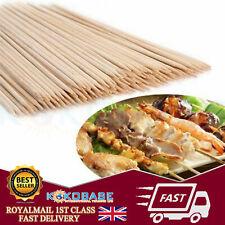 Wooden Sticks 100 X 30CM Wooden Bamboo Skewers Grill BBQ Sticks Kabab Fruit