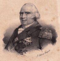 Lithographie Louis XVIII Roi de France Restauration 1833