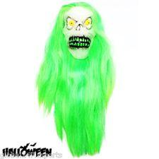 ADULT Halloween Super Hair Glow in the Dark Ghoul Mask