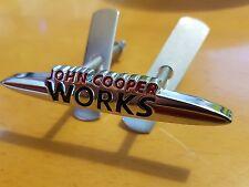 MINI NEW F R55 R56 R57 R58 R59 R60 R61 JCW FRONT BUMPER GRILL BADGE LOGO R50 53