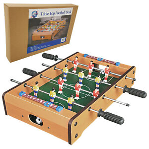 Wooden Mini Football Table Top Football Game Set Kid Toy Christmas Gift, 20 inch