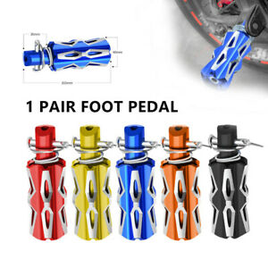 2PCS Motorcycle Motorbike Universal Footrests Footpegs Foot Pegs Pedals  Part