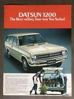 c1972 Datsun 1200 2-door Van original New Zealand sales brochure