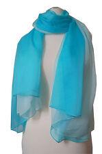 XXL Schal aus reiner Seide-Chiffon, mit Farbverlauf, 100%Seide, 140x180cm