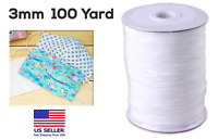 1/8 Inch 100 Yard Elastic String Cord Bands Rope for Sewing Crafts DIY Mask,