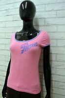 Maglia PUMA Donna Taglia Size S Maglietta Shirt Woman Cotone Manica Corta Rosa