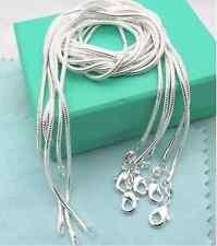 "Wholesale lots 5pcs  Silver Snake Chain Necklace  Fashion  26"""