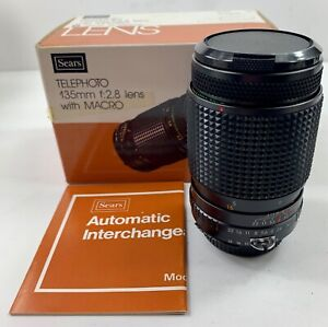 NEW Sears Auto Multicoated 135mm f/2.8 Nikon N Mount Telephoto With Macro Lens