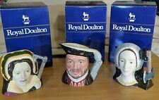 Royal Doulton Toby Jugs Henry Viii, Catherine of Aragon, Anne Boleyn In Box Jo