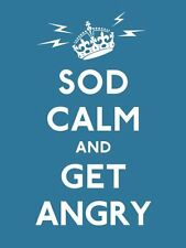Sod Calm and Get Angry: resigned advice for hard times (Gift Book) by Various |