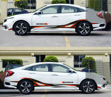 Graphics Flame Car Sticker Decal Fit For Honda Civic Side Door Stripes 2 Sides