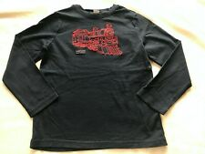 JANIE and JACK BOYS RED TRAIN NAVY TOP SIZE 7