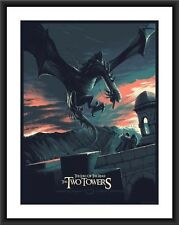 Juan Esteban Rodriguez The Two Towers Lord of  Rings #'d Art Print Movie Poster