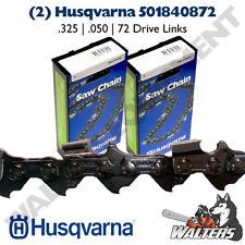 "2-Pack Genuine Husqvarna 18"" Chains   H23-72   501840872   .325   .050""   72 DL"