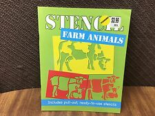 New Farm Animals Stencil Book Ready-To-Use Stencils
