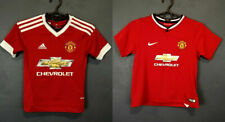 LOT 2 IN 1 FC MANCHESTER UNITED FOOTBALL SOCCER SHIRT JERSEY SIZE KIDS 7-8 YEARS