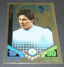 MESSI ARGENTINA VEDETTE TOPPS MATCH ATTAX TRADING CARD GAME FOOTBALL 2010