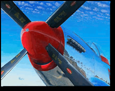 Of Metal And Sky by Peter Loughlin -  P-51 MUSTANG - Personalized Large Canvas
