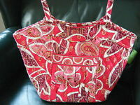 VERA BRADLEY Sweetheart Shoulder Bag ROSY POSIES Retired, New with Tags!