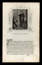 santino incisione 1800 S.VINCENZO DE PAOLI