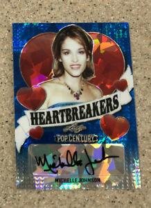 2020 Leaf Pop Century Heartbreakers Blue Crystals #9/10 Michelle Johnson Auto
