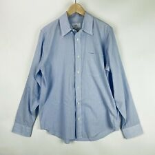 Jack Spade Mens L Slim Fit Dress Shirt Blue Micro Stripe Button Up Long Sleeves