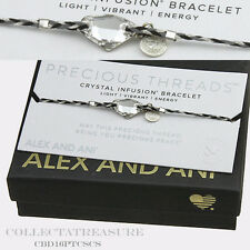 Authentic Alex and Ani Galactic, Crystal Precious Threads Silver Bracelet