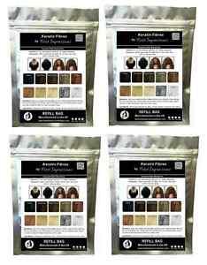 100g DARK BROWN Hair Thickening Building Fibers Refill bag