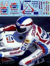 1/12 Kevin Schwantz 1988 Rider Figures Race Suit Pepsi Decals TB Decal tbd370