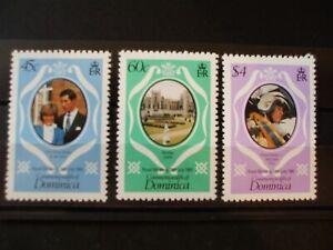 DOMINICA-1981 Royal Wedding Full Set of 3vs MNH Cat 0.55 (1A4)