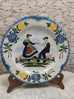 Gabriel Fourmaintraux Desvres Hand Painted Plate