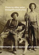 1890s Wild West Cowboy Winchester Rifle Leather Chaps Pistol Holster Hat Photo