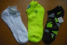 Womens NWT Adidas POLO Socks No-Show 3prs Neon Yellow White Sz:L (Shoe Szs 8-11)